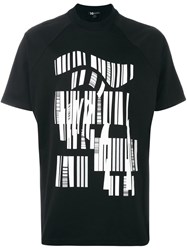 Y 3 Abstract Print T Shirt Black