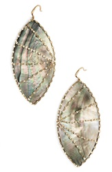 Lana Jewelry 'Mystiq Isabella' Drop Earrings Black Mother Of Pearl