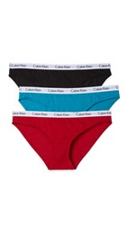 Calvin Klein Underwear Carousel Bikini 3 Pack Black Isle Green Regal Red