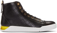 Diesel Black Quilted High Top Sneakers