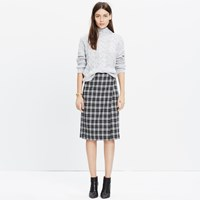 Madewell Plaid Wrap Midi Skirt