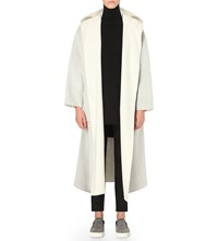 Tomorrowland Hooded Wool Coat Light Grey