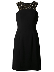 Moschino Cheap And Chic Sexy Gold Embellished Dress Black