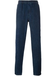 Our Legacy Elasticated Denim Trousers Blue