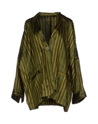 Fabrizio Lenzi Suits And Jackets Blazers Women Green