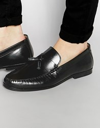 Red Tape Tassel Loafers In Black Leather Black
