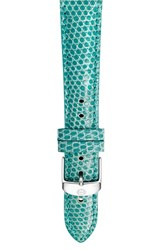 Women's Michele 16Mm Lizardskin Watch Strap Teal
