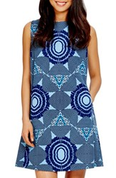 Women's Donna Morgan Kaleidoscope Print Scuba Trapeze Dress
