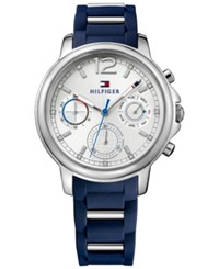 Tommy Hilfiger Women's Sport Lux Stainless Navy Silicone Strap Watch 39Mm 1781746 Blue