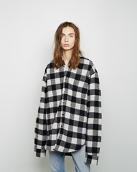 Vetements Buffalo Check Flannel Shirt Black And White