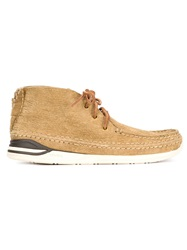 Visvim 'Voyageur Moc Folk' Boots Nude And Neutrals