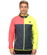 New Balance Windcheater Jacket Galaxy Firefly Bright Cherry Men's Jacket Multi