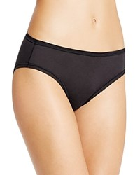Fine Lines Pure Cotton Hi Cut Brief 13Rhc34 Black