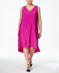 Inc International Concepts Plus Size Sleeveless High Low Dress Only At Macy's Pink Bon Bon