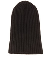 Engineered Garments Cashmere Sweater Knit Beanie In Black