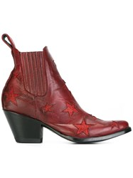 Mexicana 'Circus' Ankle Boots Red
