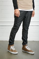 Forever 21 Faux Leather Moto Joggers