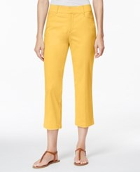 Jm Collection Cropped Twill Capri Only At Macy's Banana Cream