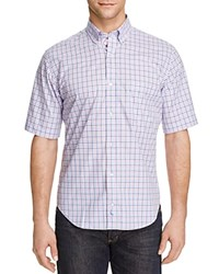 Tailorbyrd Ranunculus Check Classic Fit Short Sleeve Shirt Compare At 89.50 Pink