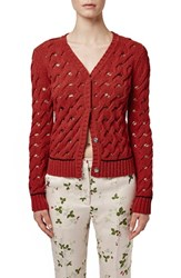 Women's Topshop Unique 'Sixworth' Open Cable Knit Cardigan