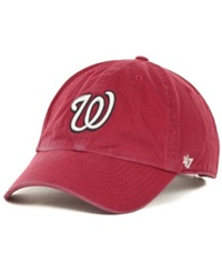 '47 Brand Washington Nationals Clean Up Hat Red