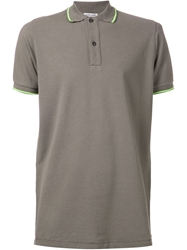 Tomas Maier Piquet Polo Shirt Grey