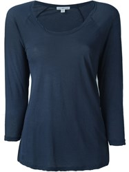 James Perse Raglan T Shirt Blue