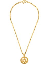 Chanel Vintage Vintage Triple Cc Necklace Metallic