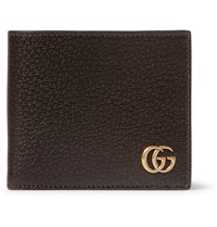 Gucci Marmont Textured Leather Wallet Brown