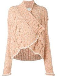 Forte Forte Cable Knit Cardigan Pink And Purple
