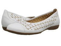 2.4167 Weiss Natural Cervo Nappa Toskana Women's Flat Shoes White