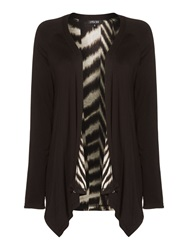 Episode Long Reversable Print Cardi Zebra Print And Black