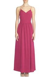 Women's 1.State Lace Up Back Maxi Dress Plum Berry