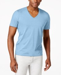 Inc International Concepts Men's Kenny V Neck Short Sleeve T Shirt Only At Macy's Clear Blue Sky
