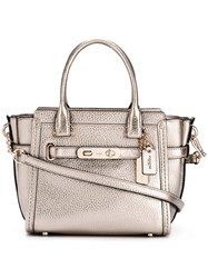 Coach Small 'Swagger' Tote Metallic