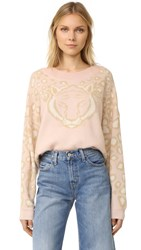 Wildfox Couture Feline Sweater Rose Smoke