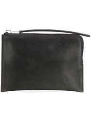Rick Owens Zipped Pouch Grey