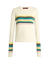 Sies Marjan Striped Alpaca And Cashmere Blend Sweater Cream