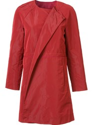 Lafayette 148 New York Collarless Coat Red