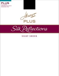 Hanes Silk Reflections Control Top Reinforced Toe Travel Buff