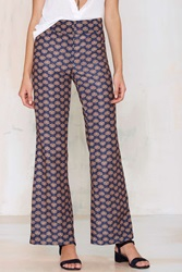 Nasty Gal Lioness Flower Child Flare Pants