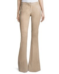 Alexis Rania Suede Flare Pants Clay