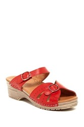 Sanita Original Joplin Sandal Red