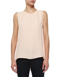Elie Tahari Ann Sleeveless Pleated Back Blouse