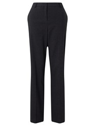 John Lewis Straight Leg Flannel Trousers Charcoal