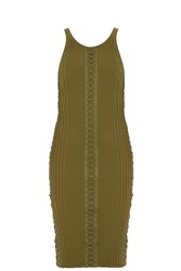 Alexander Wang Lacing Tank Dress Khaki