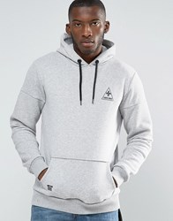 Criminal Damage Hoodie Grey