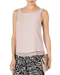 Phase Eight Vora Sleeveless Crepe Top Putty