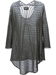 Lost And Found Semi Sheer Loose Fit Top Grey