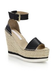 See By Chlo Glyn Leather Espadrille Wedge Platform Sandals